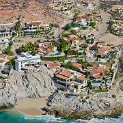 Private homes along the Palmilla coastline in Los Cabos, Mexico.