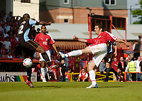 Photo: Leigh Quinnell.<br /> Bristol City v Rotherham United. Coca Cola League 1. 05/05/2007. Alex Russell fires home the third goal for Bristol City.