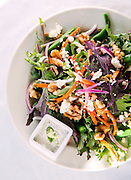 A salad at the The Farmer's Table in Fayetteville, Arkansas. A farm to table, local and organic, restaurant in Northwest Arkansas.<br /> Photo by Beth Hall