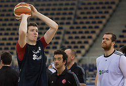 Omer Asik of Turkey during the practice session, on September 11, 2009 in Arena Lodz, Hala Sportowa, Lodz, Poland.  (Photo by Vid Ponikvar / Sportida)