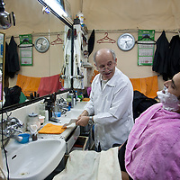 Barber in Beyoglu, Istanbul, Turkey