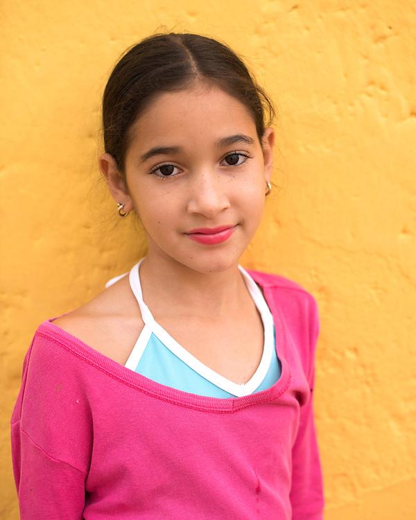 Portrait of a young schoolgirl in Trinidad