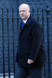 © licensed to London News Pictures. London, UK 14/01/2014. Justice Secretary, Chris Grayling attending to a cabinet meeting on Downing Street on Tuesday, 14 January 2014. Photo credit: Tolga Akmen/LNP