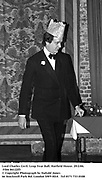 Lord Charles Cecil. Leap Year Ball. Hatfield House. 29/2/84. Film 84122f5<br />
