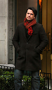 Matthew Settle appears on the set of Gossip Girl while taping on the Upper East Side in New York City on November 12, 2009.