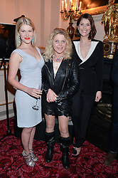 Left to right, HANNAH ARTERTON, SALLY-ANNE HEAP and GEMMA ARTERON at the Audi Ballet Evening at The Royal Opera House, Covent Garden, London on 23rd April 2015.