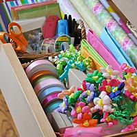 Organized gift wrap drawer