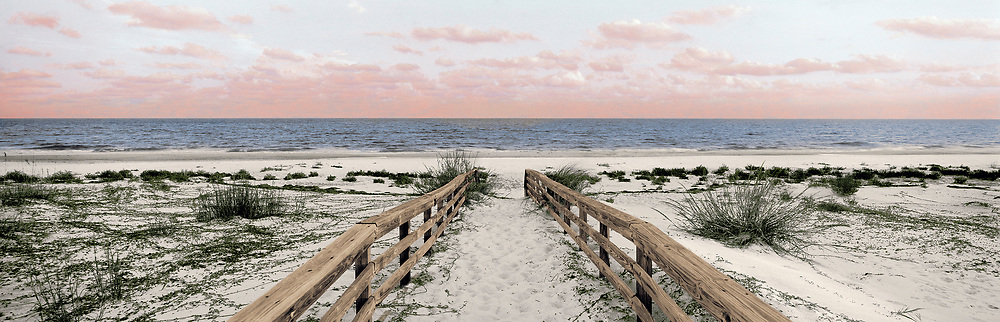 beach walkway to shoreline, Gulf of Mexico