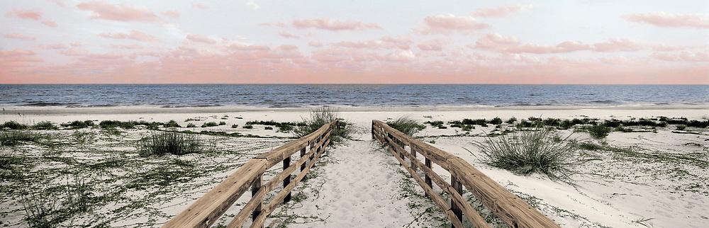 beach walkway to shoreline, Gulf of Mexico