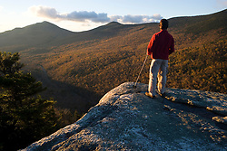 Taking in the view from Table Rock on Baldpate Mountain in Maine's Grafton Notch State Park.  Sunday River Whitecap is in the distance on the left. MR