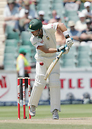 AB de Villiers is hit by a Paul Collingwood delivery during day 3 of the 4th Castle Test between South Africa and England held at The Bidvest Wanderers Stadium in Johannesburg, South Africa on the 16 January 2010.Photo by:  Ron Gaunt/SPORTZPICS