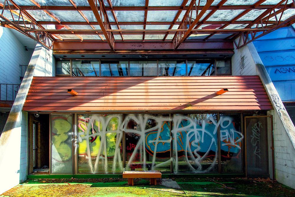 Abandoned Penn Hills Resort in central Poconos area of Pennsylvania