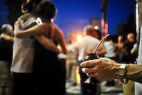 Tango Dancers and Mate te in the Outdoor Milonga La Glorieta, Buenos Aires, Argentina Image by Andres Morya