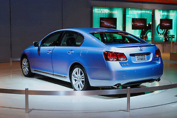 Lexus GS450, a hybrid engine car designed to be earth friendly. Shown at the Chicago Auto Show, February 9, 2006