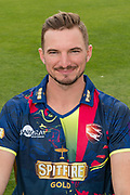 Charlie Hartley of Kent  during the Kent County Cricket Club Headshots 2017 Press Day at the Spitfire Ground, Canterbury, United Kingdom on 31 March 2017. Photo by Martin Cole.