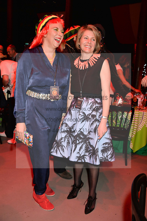 Left to right, PRINCESS DORA LOWENSTEIN and VISCOUNTESS LINLEY at A Night of Reggae in aid of Save The Children held at The Roundhouse, Chalk Farm Road, London NW1 on 12th March 2014.