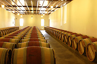 the chais of Chateau Petrus, Pomerol, France....near Bordeaux....Petrus is probaly the most exclusive and expensive wine in the world