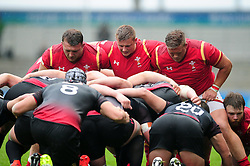 The Wales U20 front row - Mandatory byline: Patrick Khachfe/JMP - 07966 386802 - 11/06/2016 - RUGBY UNION - Manchester City Academy Stadium - Manchester, England - Wales U20 v Georgia U20 - World Rugby U20 Championship 2016.