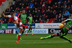 Will Vaulks of Rotherham United shoots at goal - Mandatory by-line: Ryan Crockett/JMP - 16/12/2017 - FOOTBALL - Aesseal New York Stadium - Rotherham, England - Rotherham United v Plymouth Argyle - Sky Bet League One