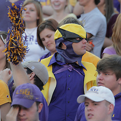 25 October 2008:  A LSU fan during the Georgia Bulldogs 52-38 victory over the LSU Tigers at Tiger Stadium in Baton Rouge, LA.