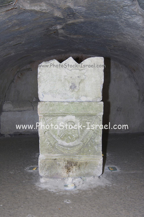 """sarcophagi, at Rabbi Yehuda Hanasi's catacomb at Beit Shearim Israel The Jewish town of Beit She'arim flourished during the 2-4 centuries CE (the Roman period). The people of Beit She'arim dug ornate catacombs, interconnected by tunnels, creating a huge underground necropolis - a city of the dead. The caves are full of stylized sarcophagi, decorated with Jewish and secular symbols. Beit She'arim was destroyed during the mutiny against Galos the emperor in the year 352 CE. The town of Beit She'arim became an important spiritual center when Rabbi Yehuda Hanasi (""""Rabbi""""), who was the spiritual authority of the time, made his home there. Rabbi was known as the sealer of the """"Mishna"""". Rabbi also moved the """"Sanhedrin"""" (the religious-judicial authority) to Beit She'arim. When he died in the year 220 CE, Rabbi was buried in one of the caves, a fact that made Beit Shearim an important burial place, for Jews of Israel and the Diaspora.  during excavations done in this site, more than 30 burial"""