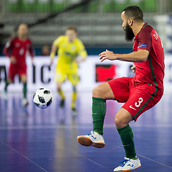 Tunha of Portugal during futsal match between National teams of Ukraine and Portugal at Day 6 of UEFA Futsal EURO 2018, on February 4, 2018 in Arena Stozice, Ljubljana, Slovenia. Photo by Urban Urbanc / Sportida