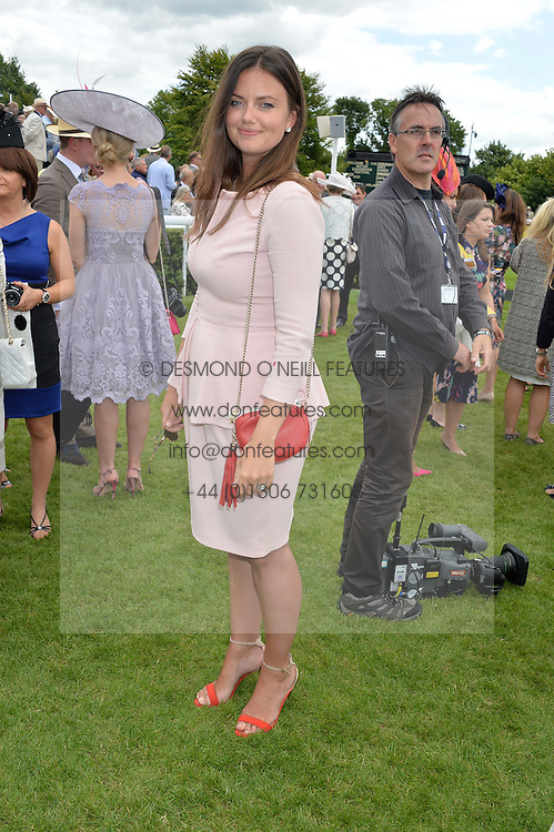 LADY NATASHA FINCH at the Qatar Goodwood Festival - Ladies Day held at Goodwood Racecourse, West Sussex on 30th July 2015.