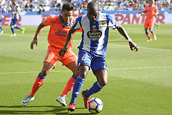 May 20, 2017 - LA CORUNA SPAIN. MAY 20, 2017 - Ola John and David Simón. La Liga Santander match day 38 game. Deportivo La Coruna defeated Las Palmas with goals scored by Florin And one (4th and 28th minute) and Carles Gil (39th minute). Riazor Stadium, Spain. Photo by Monica Arcay Carro | PHOTO MEDIA EXPRESS (Credit Image: © Monica Arcay Carro/VW Pics via ZUMA Wire/ZUMAPRESS.com)