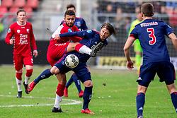 28-01-2018 NED: FC Utrecht - AFC Ajax, Utrecht<br /> Zakaria Labyad #10 of FC Utrecht, Lasse Schone #20 of Ajax