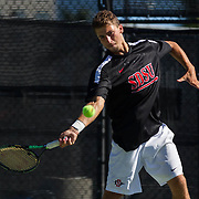 09 October 2016: The San Diego State Aztecs men's tennis wraps up the Aztec Invite tennis tournament Sunday at the SDSU Tennis Center. www.sdsuaztecphotos.com