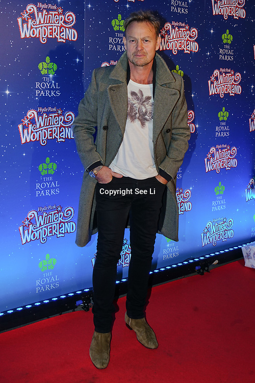 London, England, UK. 16th November 2017. Actor Jason Donovan attend the VIP launch of Hyde Park Winter Wonderland 2017 for a preview. tomorrow is opening for the public