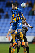 10 Nathan Thomas for Shrewsbury Town during the EFL Sky Bet League 1 match between Shrewsbury Town and Peterborough United at Greenhous Meadow, Shrewsbury, England on 24 April 2018. Picture by Graham Holt.