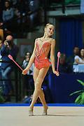 Chiara Vignolini atleta della società Raffaello Motto di Viareggio durante la seconda prova del Campionato Italiano di Ginnastica Ritmica.<br /> La gara si è svolta a Desio il 31 ottobre 2015.