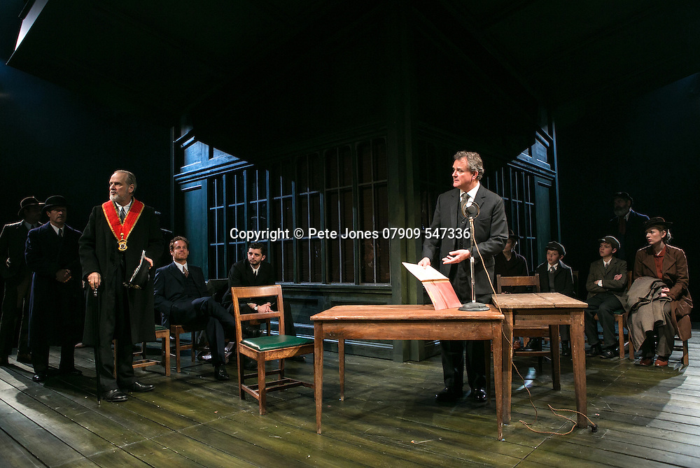 An Enemy of the People by Henrik Ibsen;<br /> Directed by Howard Davies;<br /> Hugh Bonneville as Dr Tomas Stockmann;<br /> Adam James as Hovstad;<br /> William Gaminara as Peter Stockmann;<br /> Michael Fox as Billing;<br /> Alice Orr-Ewing as Petra Stockmann;<br /> Chichester Festival Theatre, Chichester, UK;<br /> 29 April 2016