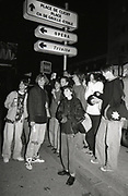 Group of Madchester fans drinking, Paris, 1990s