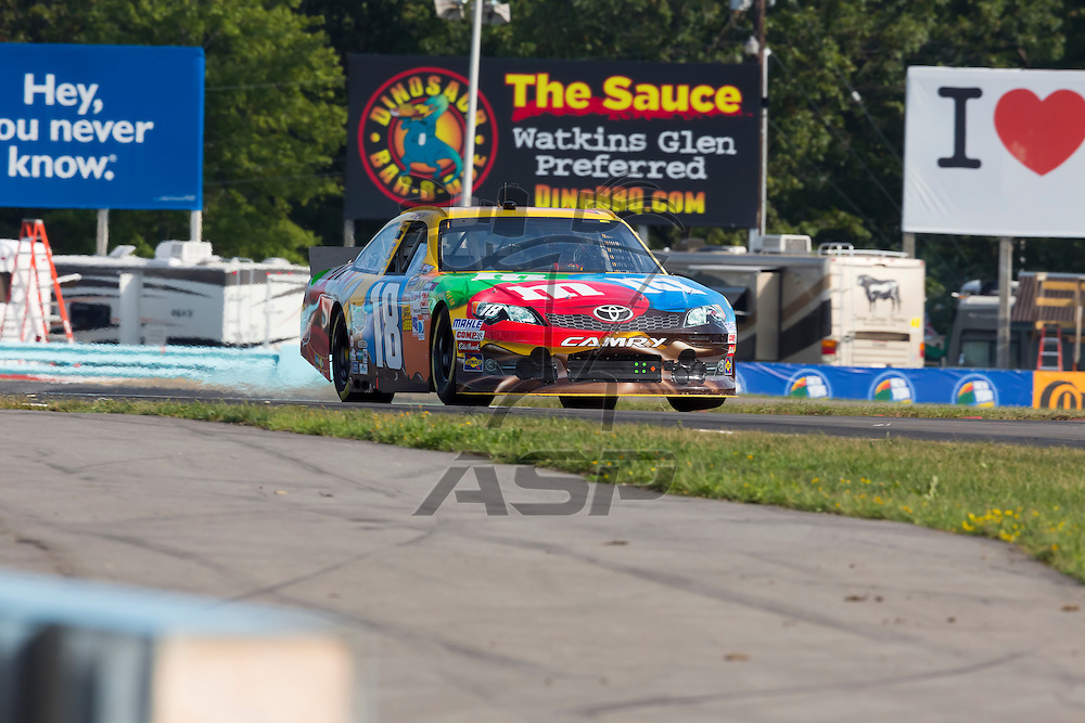 WATKINS GLEN, NY - AUG 11, 2012:  The NASCAR Sprint Cup Series take to the track for a practice session for the Finger Lakes 355 at The Glen in Watkins Glen International, NY.