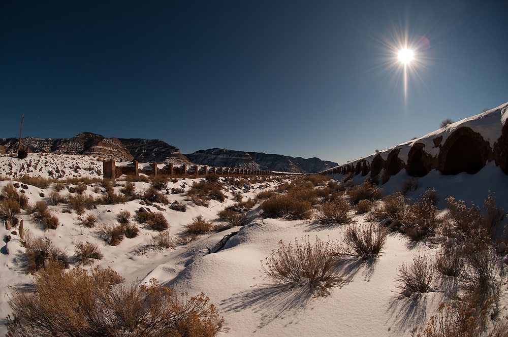 Our closest star, over abandoned coke ovens, East Carbon, UT