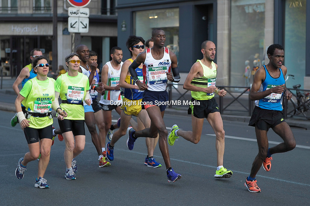 Ruben Iindongo / Badredine Zioini - 12.04.2015 - Marathon de Paris 2015<br />Photo :  Andre Ferreira  / Icon Sport