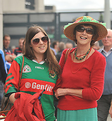 Rosin and Regina Rogers on their way to the All Ireland Semi-final between Mayo and Dublin on sunday last.<br /> Pic Conor McKeown