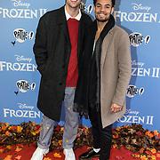 NLD/Amsterdam/20191116 - Filmpremiere Frozen II, Mitch Wolterink en ........