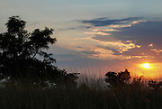 Sunrise. Hluhluwe-Imfolozi Game Reserve, KwaZulu-Natal province of South Africa.