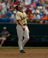 06/16/2006 Georgia Tech's MIke Trapani. Game one of the College World Series in Omaha, Ne.(photo by chris machian/Prarie PIxel Group)