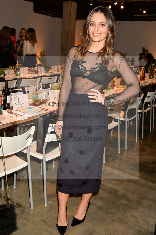 OLIVIA WAYNE at the Smashbox Influencer Dinner hosted by Lauren Laverne held at Carousel, 71 Blandford Street, London on 21st January 2016.