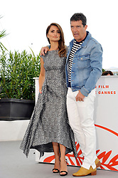 Penelope Cruz Antonio Banderas attending the Pain and Glory Photocall during the 72nd Cannes Film Festival, Festival des Palais