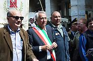 25 aprile, Festa della Liberazione. Milano, 2014. Il sindaco Giuliano Pisapia.