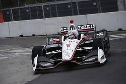July 14, 2018 - Toronto, Ontario, Canada - JOSEF NEWGARDEN (1) of the United States attempts to qualify in the rain for the Honda Indy Toronto at Streets of Toronto in Toronto, Ontario. (Credit Image: © Justin R. Noe Asp Inc/ASP via ZUMA Wire)