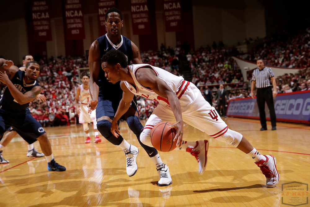 Indiana guard Yogi Ferrell (11) as Penn State played Indiana in an NCCA college basketball game in Bloomington, Ind., Tuesday, Jan. 13, 2015. (AJ Mast)