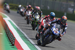 May 13, 2018 - Imola, Italy, Italy - 60 Michael van der Mark NED Yamaha YZF R1 Pata Yamaha Official WorldSBK Team during the Motul FIM Superbike Championship - Italian Round  race 2 during the World Superbikes - Race at Enzo & Dino Ferrari Circuit on May 13, 2018 in Imola, Italy. (Credit Image: © Fabio Averna/NurPhoto via ZUMA Press)