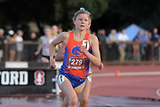May 2, 2019; Stanford, CA, USA; Allie Ostrander (279) of Boise State wins the women's steeplechase in 9:45.66 during the 24th Payton Jordan Invitational at Cobb Track & Angell Field.
