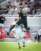 Los Angeles FC defender Walker Zimmerman (25) in action during a MLS soccer match in Los Angeles, Saturday, May 5, 2018. (Eddie Ruvalcaba/Image of Sport)